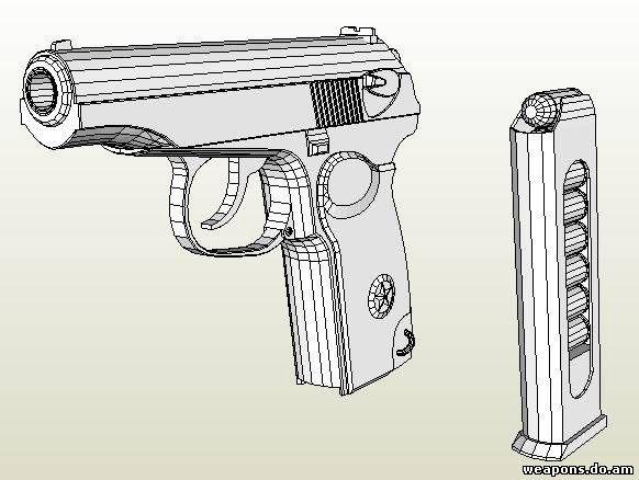 Пистолет макарова как сделать из бумаги